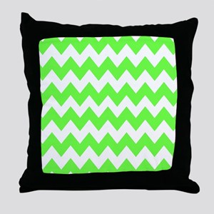 Lime Green Chevron Throw Pillow