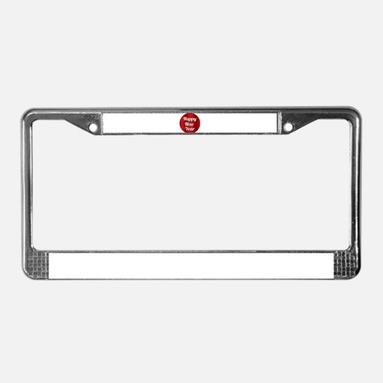 Happy New Year License Plate Frame