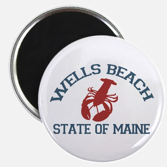 Wells Beach ME - Lobster Design. Magnet