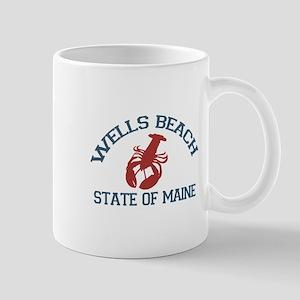 Wells Beach ME - Lobster Design. Mug