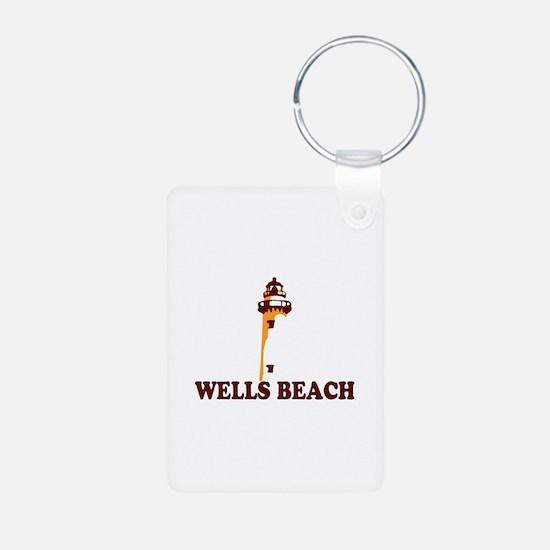 Wells Beach ME - Lighthouse Design. Aluminum Photo