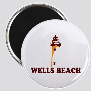 Wells Beach ME - Lighthouse Design. Magnet