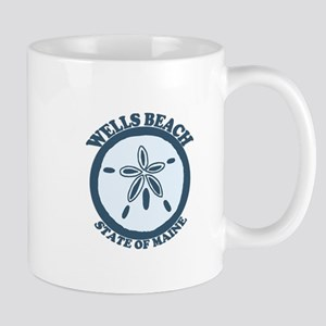Wells Beach ME - Sand Dollar Design. Mug
