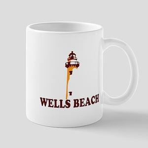 Wells Beach ME - Lighthouse Design. Mug