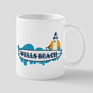 Wells Beach ME - Surf Design. Mug