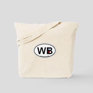 Wells Beach ME - Oval Design. Tote Bag