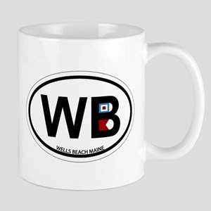 Wells Beach ME - Oval Design. Mug