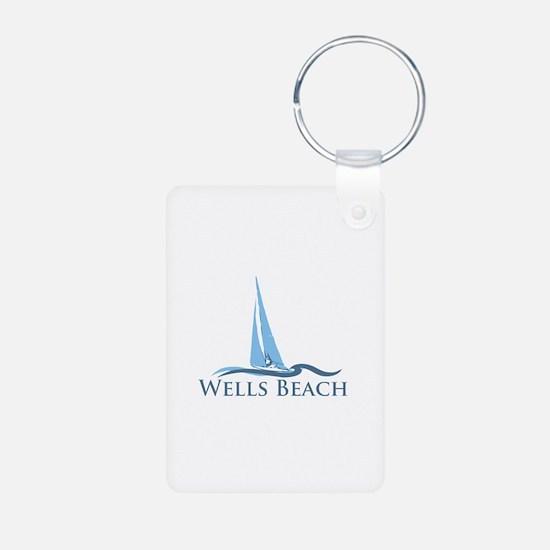 Wells Beach MA - Sailing Design. Aluminum Photo Ke