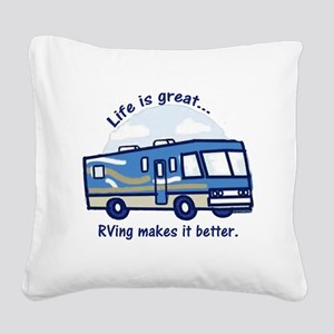 RVinggreat Square Canvas Pillow