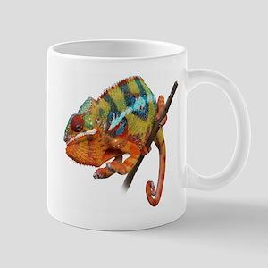 Yellow Chameleon on Stick Mugs