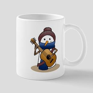Snowman with Guitar Mug