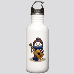 Snowman with Guitar Stainless Water Bottle 1.0L