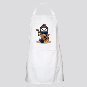 Snowman with Guitar Apron