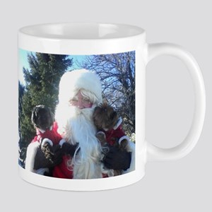 Cuddles & Diamond With Santa Mug