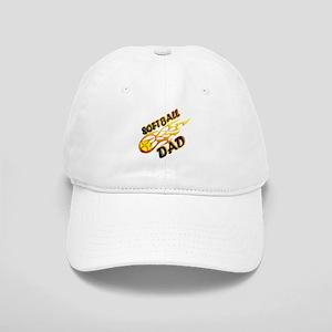Softball Dad (flame) copy Cap
