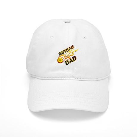 Softball Dad (flame) copy Baseball Cap by MagikSportsTees b9dfdf19fe3