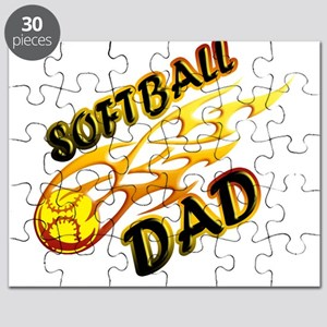 Softball Dad (flame) copy Puzzle