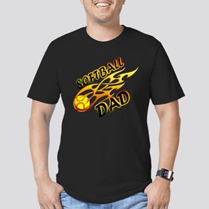 Softball Dad (flame) copy Men's Fitted T-Shirt