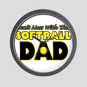 Dont Mess With This Softball Dad copy Wall Clo