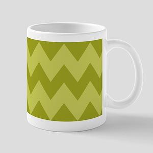 Olive Green Shades of Chevron Mug