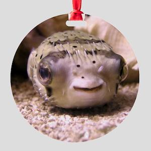 Helaine's Blowfish (Pufferfish ) Round Ornament