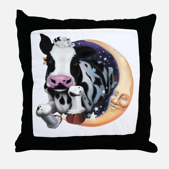 Cow Jump Over the Moon Throw Pillow