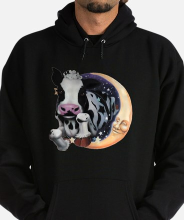 Cow Jump Over the Moon Hoodie (dark)