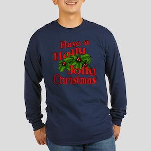 Holly Jolly Xmas Long Sleeve Dark T-Shirt