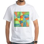 Color Square Abstract 1 White T-Shirt