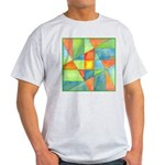 Color Square Abstract 1 Ash Grey T-Shirt