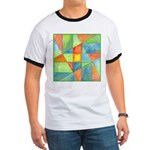 Color Square Abstract 1 Ringer T