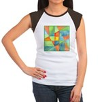Color Square Abstract 1 Women's Cap Sleeve T-Shirt