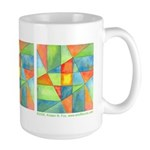 Color Square Abstract 1 Large Mug