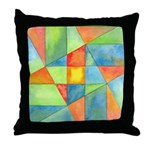 Color Square Abstract 1 Throw Pillow
