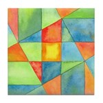 Color Square Abstract 1 Tile Coaster