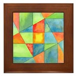 Color Square Abstract 1 Framed Tile