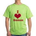 I Heart Damon 1 Green T-Shirt