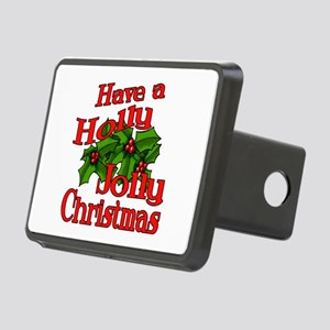 Holly Jolly Xmas Rectangular Hitch Cover