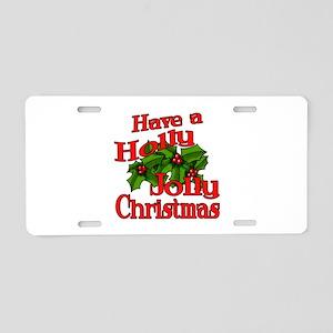 Holly Jolly Xmas Aluminum License Plate
