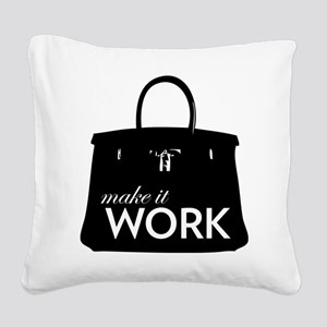 Project Runway Square Canvas Pillow