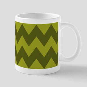 Military Green and Olive Chevron Mug
