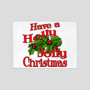 Holly Jolly Xmas 5'x7'Area Rug