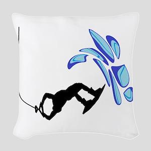WAKEBOARD WAYS Woven Throw Pillow