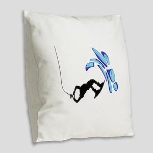 WAKEBOARD WAYS Burlap Throw Pillow