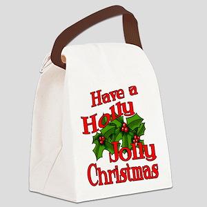 Holly Jolly Xmas Canvas Lunch Bag
