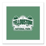 Green Yellowstone Square Car Magnet 3