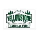 Green Yellowstone Car Magnet 20 x 12