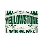 Green Yellowstone Rectangle Magnet (10 pack)