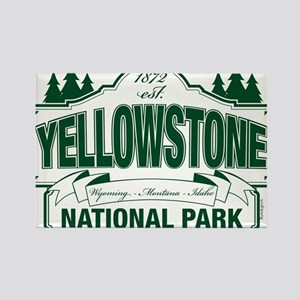 Green Yellowstone Rectangle Magnet