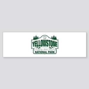 Green Yellowstone Sticker (Bumper)